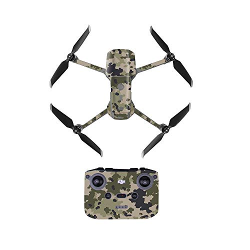 Linguhang Drone Decal Impermeable Anti-Scratch Protection Guard Skin Guard para dji Mavic Air 2 Drone Control Remoto Brazo y Baterías PVC Impermeable (Desert Camo)