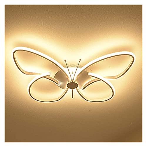 Lámpara de techo de mariposa creativa moderna, led regulable con control remoto Luz de techo, lámpara de dormitorio elegante Habitación para niños Lámpara de salón Lámpara de pasillo Lámpara de balcón