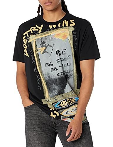 Desigual TS_JATRAS Camiseta, Negro, XL para Hombre