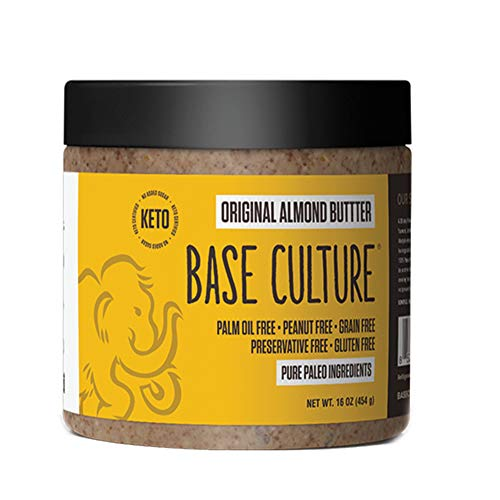 Paleo Almond Butter, Original, 100% Gluten Free Almond Butter and Paleo Certified, 6g Protein Per Serving, No Artificial Sugars, Crafted by Base Culture (6 Count)