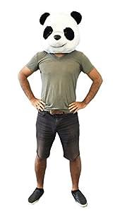 CLEVER IDIOTS INC Animal Head Mask - Plush Costume Halloween Parties & Cosplay (Panda)