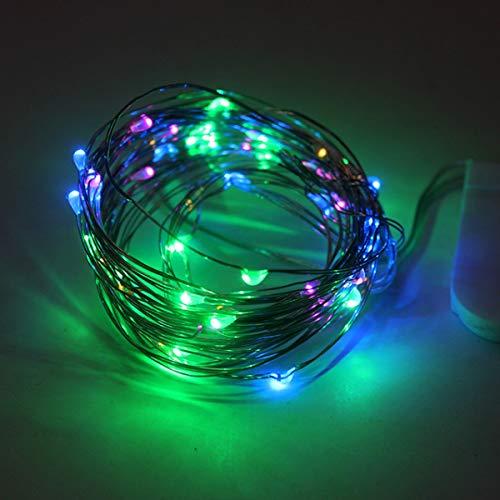 CR2032 LED-Lichterkette/Nachtlichter, wasserdicht, 2 m, 5 m, batteriebetrieben, mehrfarbig, 2 m