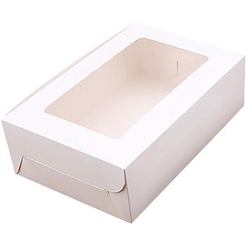 Caja de embalaje para cupcakes, 10 unidades, 2/4/6 agujeros de papel kraft, caja para magdalenas, para bodas y fiestas, Blanco, 4 Holes: Amazon.es: Hogar