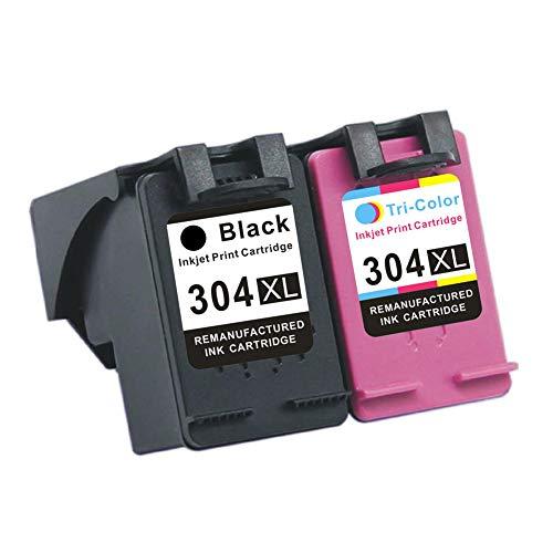 Compatible con el cartucho de tinta HP 304XL HP DeskJet 2622 2630 2632 Envy 5020 5030 5010, aproximadamente 600 páginas en negro, aproximadamente 450 páginas en color (5% de cobertura de papel A4)-2