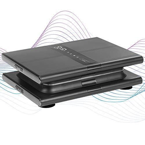 skandika Vibrationsplatte Sunna | modernes Design | kompakt und platzsparend, bis 20 Hz, inkl. Fernbedienung, LCD-Display, 20 Levels, 3 + 1 Programme | Gewicht reduzieren & Muskeln aufbauen