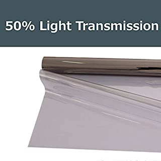 PROTINT WINDOWS 50% Shade Color 24 Inches by 10 Feet Window Tint Film Roll, for Privacy and Heat Reduction
