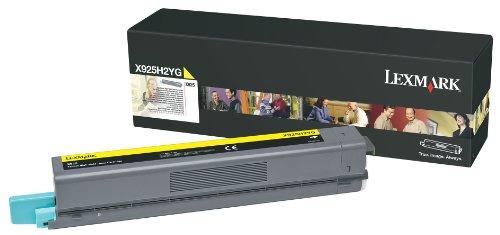 Lexmark High Yield Yellow Toner Cartridge, 7500 Yield, For Use in Model X925 (X925H2YG)