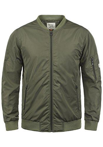 Blend Craz Herren Bomberjacke Übergangsjacke Jacke Mit Stehkragen, Größe:L, Farbe:Dusty Olive Green (77203)