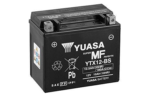 Batterie YUASA YTX12-BS, 12V/10AH (Maße: 150x87x130) für Aprilia Pegaso 650 Strada Baujahr 2005