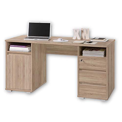 BEGA Primus 2 Schreibtisch   In Sonoma Eiche   145 x 74 x 65 cm   39-392-66
