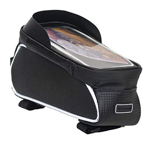 """Bolsa de Marco Frontal para teléfono de Bicicleta, Bolsa Impermeable para Bicicleta, Bolsa de Almacenamiento para Accesorios de Bicicleta, Compatible con Pantalla táctil Fit 7 """""""