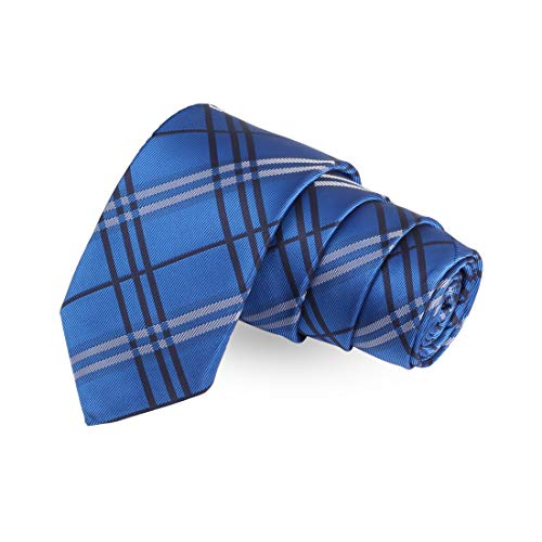 Peluche Blue Rush Blue Colored Microfiber Necktie For Men