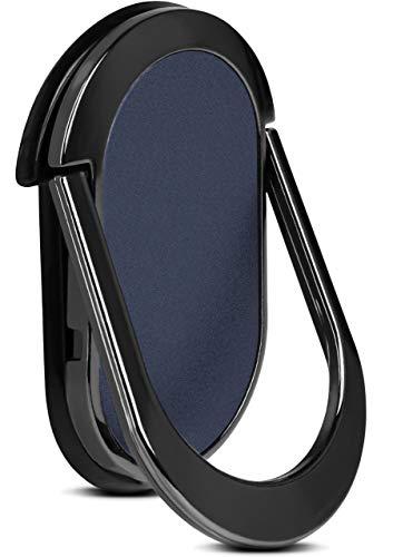ONEFLOW Flip Loop Fingerhalterung für alle Vernee Handys - Handy Ring mit integriertem Magnet & Ständer, Halter Handgriff, Smartphone Fingerhalter, Blau