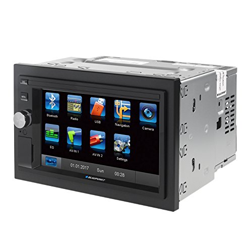 Blaupunkt Santa Cruz 370 – de Doble DIN CD/MP3 de Radio de Coche con Pantalla táctil/Bluetooth/USB/SD/iPod