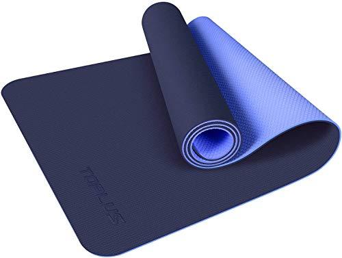 TOPLUS Tappetino da yoga, Classic Pro Fitness Mat TPE ecologico antiscivolo con cinghia per il trasporto, tappetino per yoga, pilates e ginnastica, 183 x 61 x 0,6 cm