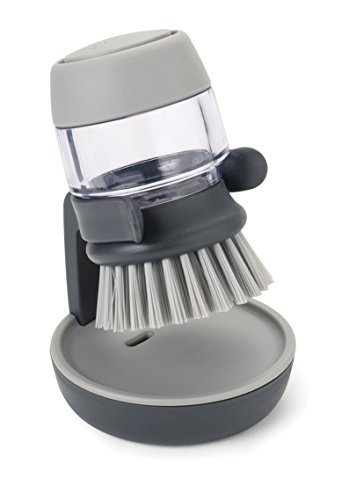 JOSEPH JOSEPH 85005 Palm Scrub Palm Dish Brush, Grey