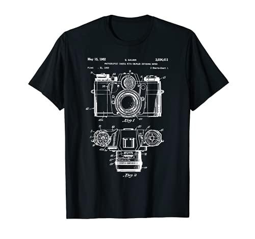 Patent Kamera Fotograf T-Shirt Vintage Retro