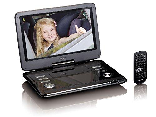Lenco DVP-1210 - 12-Zoll tragbarer HD DVD-Player - 2200 mAh integrierter Akku - mit KfZ Adapter - Schwarz