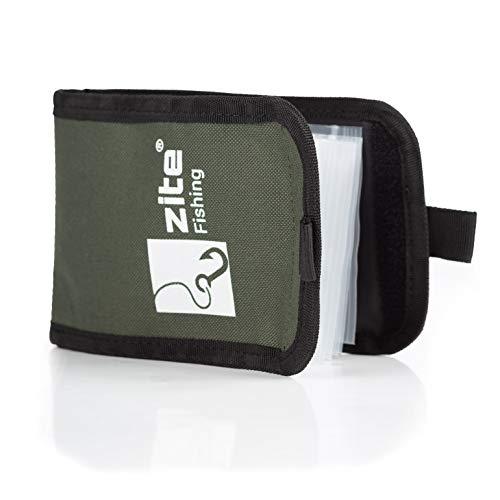 Zite Fishing Vorfach-Tasche Angeln – Hakentasche & Rig-Tasche für Angelhaken & Vorfächer - 12x16cm mit separaten verschließbaren Beuteln