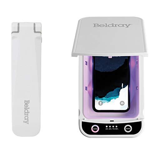 Beldray COMBO-6859 Antibac UV-C Sterilisation Box & Compact Wand, Portable Sanitiser for Phones, Keys, Glasses and More, USB Powered