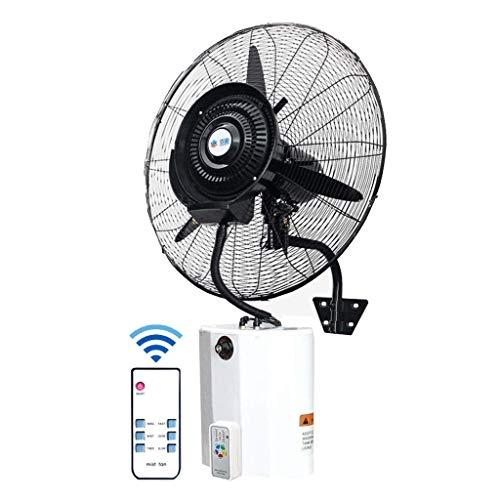 JPL Ventilador eléctrico doméstico, ventilador industrial de pedestal Ventilador de enfriamiento oscilante con control remoto Ventilador industrial silencioso de montaje en pared, ideal para el hogar