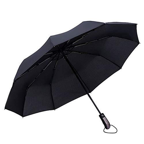 Gobesty paraplu zakparaplu omgekeerde paraplu, diameter 105 cm, 10 ribben, windbestendig, stormbestendig, automatisch op-te paraplu, waterafstotend, klein, licht, compact, zwart