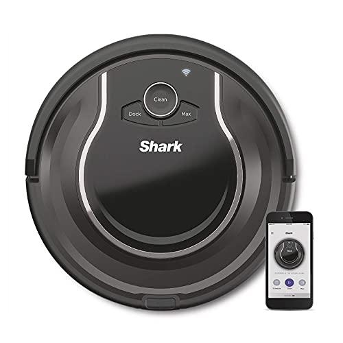Aspirapolvere Shark ION Robot [RV750EU], Esclusiva Amazon, Aspirapolvere robotizzato, Tappeti e pavimenti duri, App Wi-Fi, Peli di animali