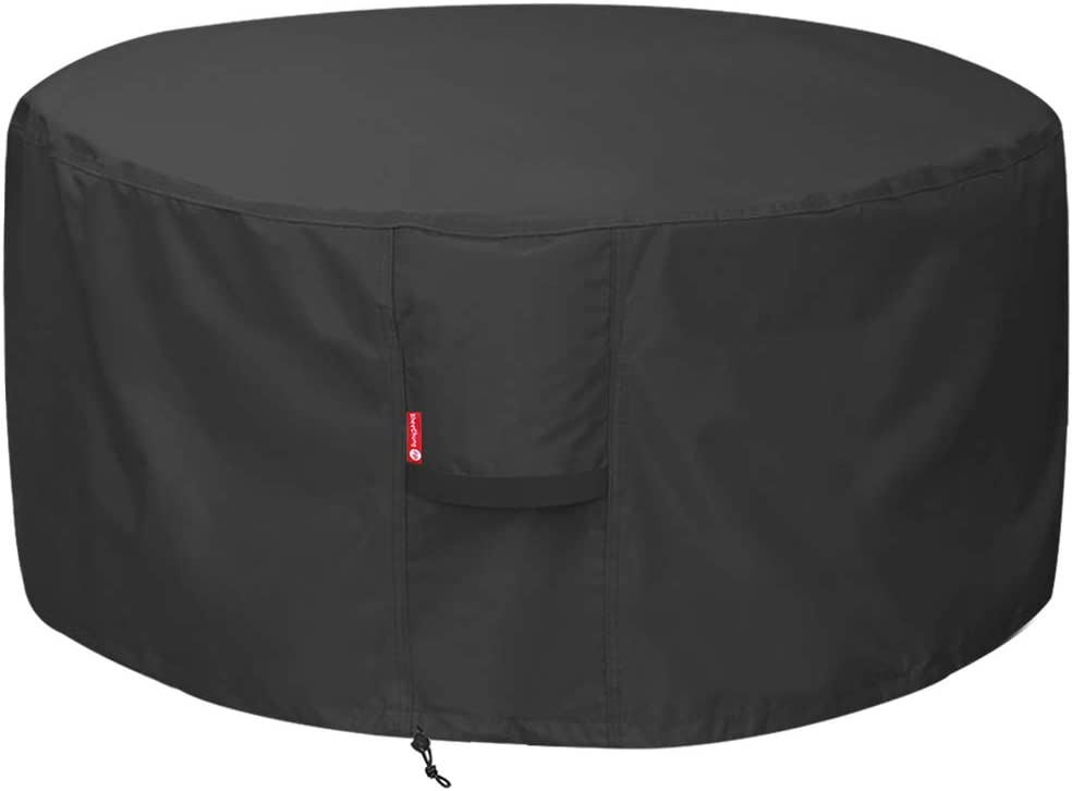 SheeChung Max 89% OFF Fire Pit Cover - Waterproof Pati Heavy Purchase Duty Round 600D