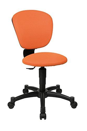 Topstar Sitness Quarter Ball, krzesło obrotowe dla dzieci i młodzieży, krzesło na biurko dla dzieci, z tkaniny, kolor pomarańczowy