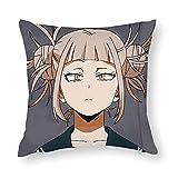 Cute Toga Himiko - BNHA Funda de almohada de anime Funda de almohada suave decorativa para el hogar para la cama Dormitorio Sala de estar Funda de almohada Funda de cojín para sofá de lona 45X45cm