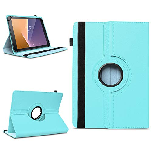 Tasche für Vodafone Tab Prime 7 Tablet Hülle Schutzhülle Hülle 360° Drehbar Cover, Farben:Türkis