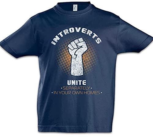 Introverts Unite T-Shirt Fun Geek Nerd Computer Science Scientist Gamer Navy Blue XXL