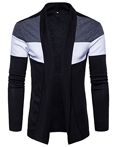 PAUSE Black Solid Cotton Round Neck Regular Full Sleeve Men's Cardigan