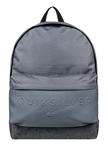 Quiksilver Everyday Poster Embossed School Bag, 42 cm, 25 liters, Grey (Iron Gate)