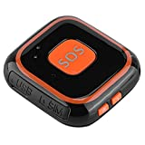 Richer-R Mini GPS Tracker,SOS Alarma Portátil Estilo Colgante,Sirena de Emergencia Personal Intercomunicación de Dos Vías para Ancianos/Niños y Personas Especiales(Negro)