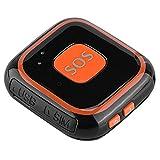Richer-R Mini GPS Tracker,SOS Alarma Portátil Estilo Colgante,Sirena de Emergencia Personal...