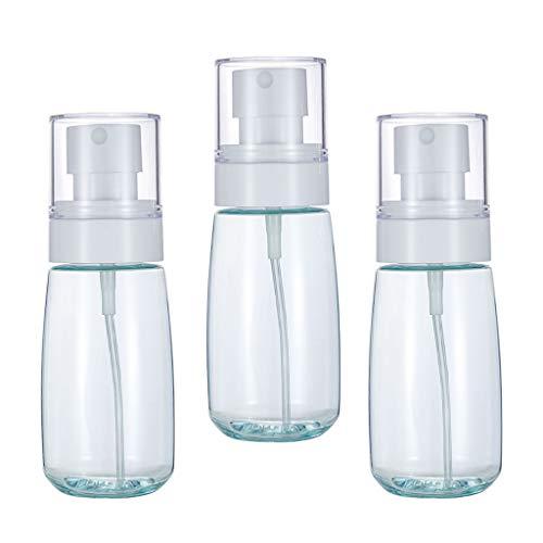 HomeDecTime 3pcs 60ml Plastique Fine Vaporisateur de Parfum Lotion Pulvérisateur d'Alcool pour Poche, Voiture, Voyages - Bleu