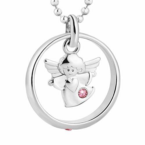 fish Mädchen Halskette Sterling-Silber 925 Taufkette Rosa Geschenkverpackung Taufe Geschenk