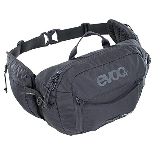 evoc unisex_adult HIP PACK 3l + 1,5l Bladder, Black, standard size