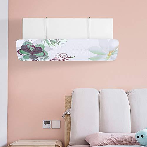 Klimaanlage Windschutz, ABS verstellbarer Winkel Haushaltsklimaanlage Zubehör, Home Office Frauen für Baby(Silk cane flower)