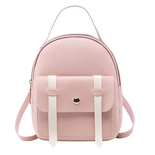 iHENGH 2019 Borsa a Spalla Moda Pu Donna Borsetta Scuola Studente Viggio Carino Handbag Fashion Women Girl Travel Students School Bag Backpack Shoulder Bag Nero