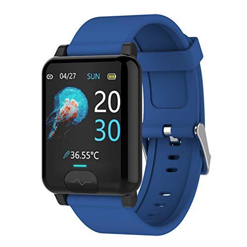 DKM Pantalla Táctil Completa Reloj Inteligente para Android IOSECG PPG Presión Arterial Tracker Smartwatch Monitor De Frecuencia Cardíaca para Hombres Y Mujeres,A