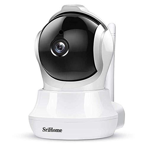 Srihome SH020 Pan/Tilt Wireless WiFi 3MP Ultra HD 1296p IP Security Camera CCTV with Auto Tracking