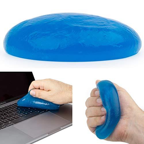 Staubreiniger für Tastatur, Kamera, Laptop, Handy, Auto Innenraum Reiniger, 130 Gramm, wirkt anti-bakteriell, Tastatur Reiniger, Reinigungsmasse, Reinigungsgel Smartphone, Reinigungsknete Auto Lüftung