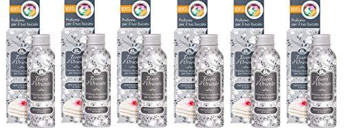 6x Tesori d'oriente Parfums Wäsche Dufttaschen 100 ml weißes Moos und Lilie
