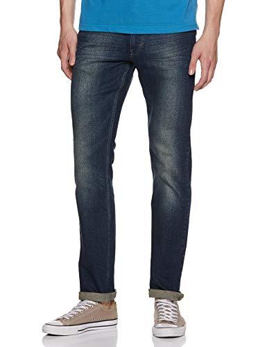 Numero Uno Men's Super Slim Jeans (NMJNEL572_Dark Blue_30)