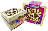 Gift Set Bundle Includes 2 Paint Your Own Jewelry Boxes! Perfect for that important little person to keep their trinkets and valuables. Each Jewelry Box Kit Includes 1 Paint Brush and 3 Paint Colors! Made of high quality wood and safe, non-toxic pain...