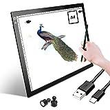 A4 LED Leuchtkasten Zeichenblock Kopiertafel Tragbare Nachverfolgung Lichtbox Wiederverwendbare A4...