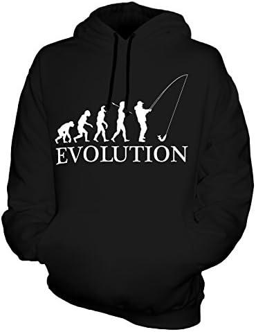 FISCHEREI ANGELN EVOLUTION DES MENSCHEN UNISEX KAPUZENPULLOVER HERREN DAMEN