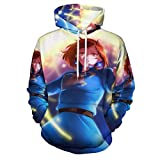 3D Printed Costume Coat Fashion Sweatshirts Unisex Hooded Pullover Nausicaa of The Valley of The Wind Casual Hoodies M